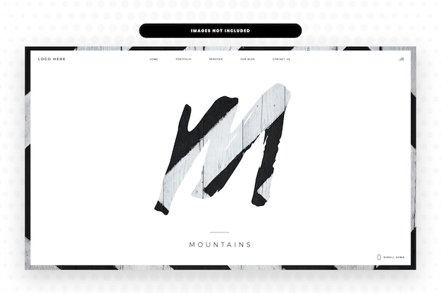 M letter website template,