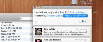 Mac OS X Twitter User Interface