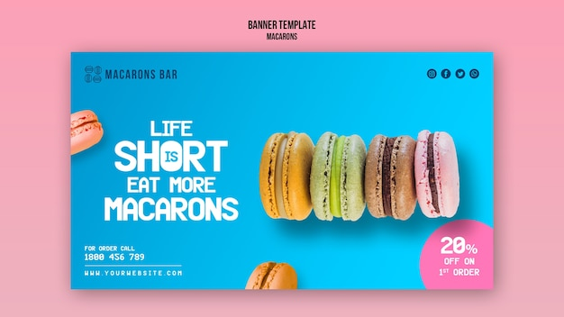 Macarons banner template