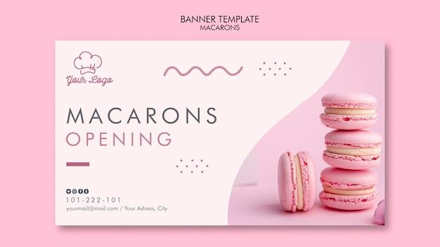 Macarons banner template