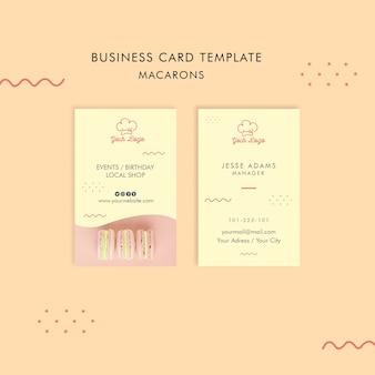 Дизайн шаблона визитной карточки macarons