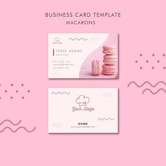 Macarons business card template theme