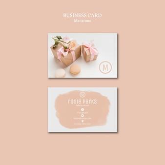 Macarons business card template