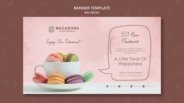 Macarons concept banner template