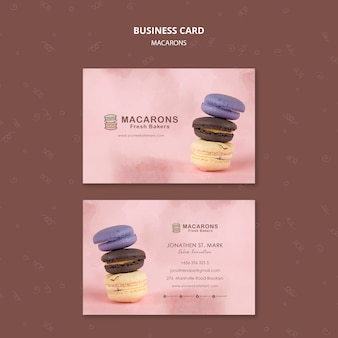 Macarons concept business card template
