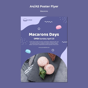 Macarons concept poster template