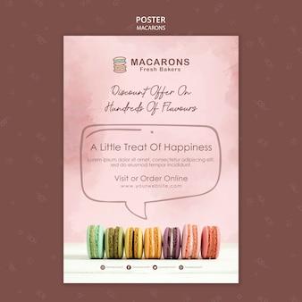 Macarons concept poster template
