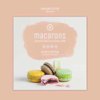 Концепция шаблона флаер macarons
