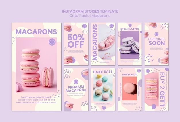 Macarons instagram stories template