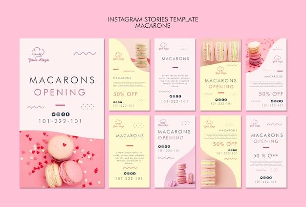 Шаблон истории macarons instagram