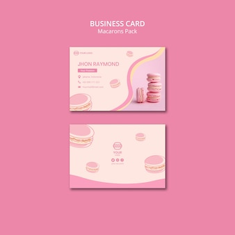 Macarons pack business card template