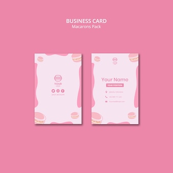 Macarons pack business cards