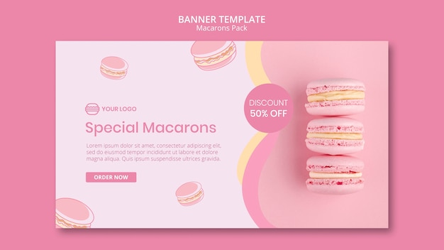 Macarons pack with discount