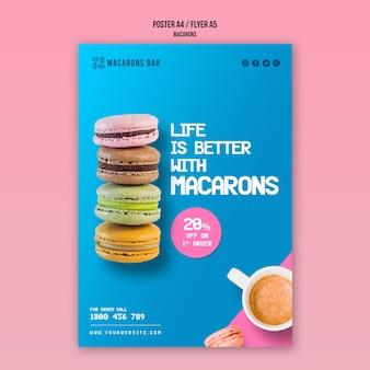 Macarons poster template concept