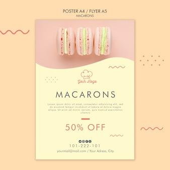 Macarons poster template design