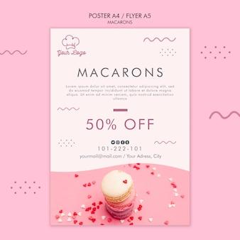 Macarons poster template