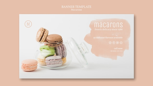 Шаблон баннера macarons