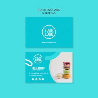 Шаблон визитной карточки премиум-класса macarons