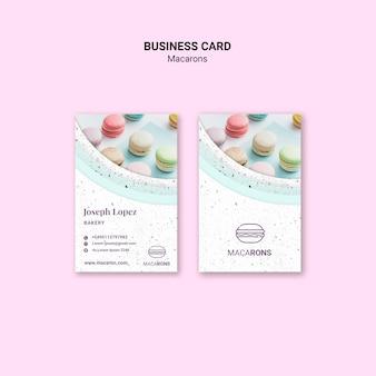 Мы любим macarons шаблон визитной карточки
