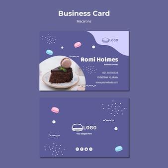 Шаблон визитной карточки концепции macarons