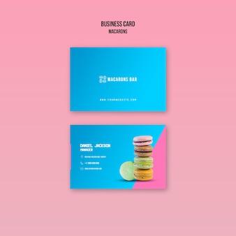 Шаблон визитной карточки macarons