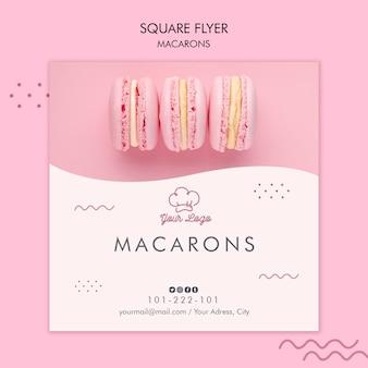 Шаблон дизайна флаера macarons