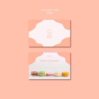 Шаблон визитной карточки с концепцией macarons