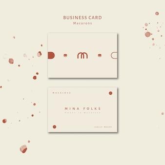 Шаблон визитной карточки магазина macarons