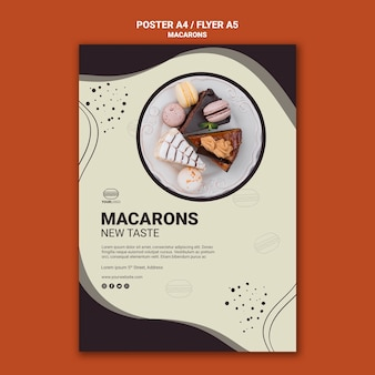 Вкусный дизайн флаеров macarons