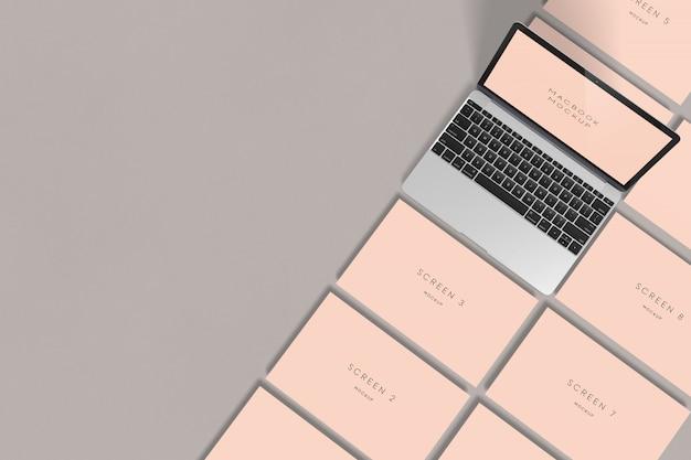 Macbook画面のモックアップ