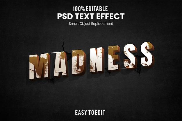 Текстовый эффект безумия