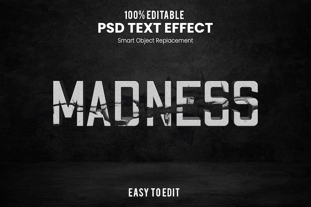Эффект madnesstext