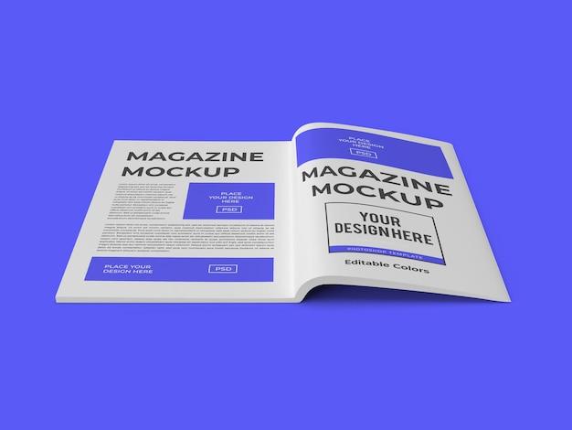 잡지 책 종이 이랑 템플릿 격리 된 Psd 프리미엄 PSD 파일