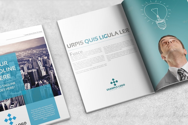Magazine or brochure mockup