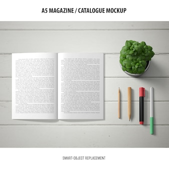 Magazine catalogue mockup