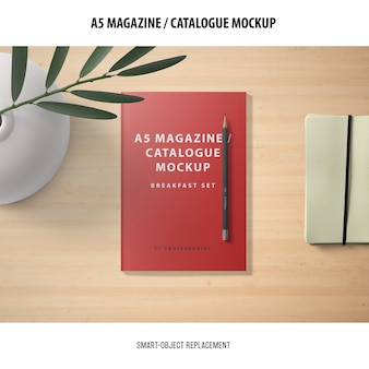 Magazine catalogue mockup