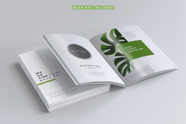 잡지 표지 및 내부 페이지 모형