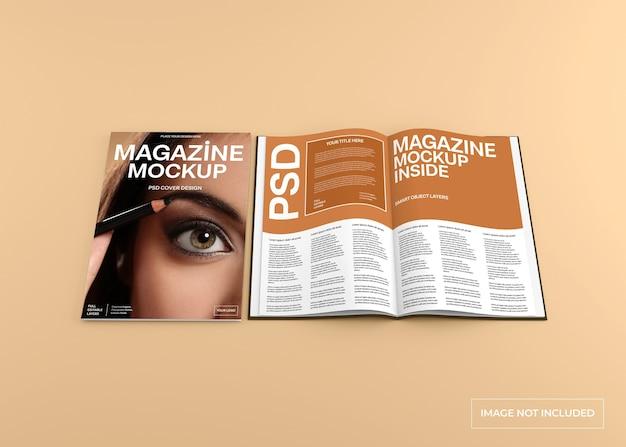 잡지 표지 및 내부 페이지 모형 절연