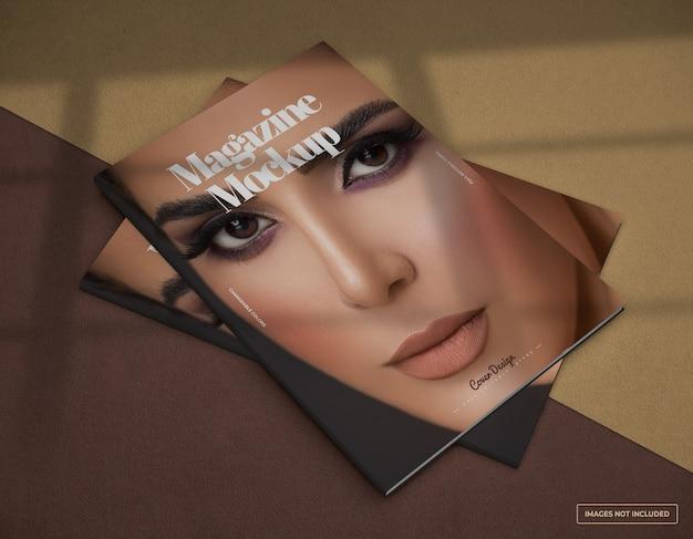Мокап дизайна обложки журнала