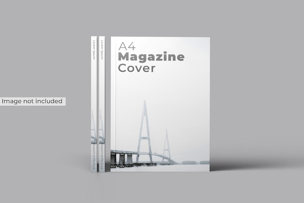 Magazine cover mockup front view