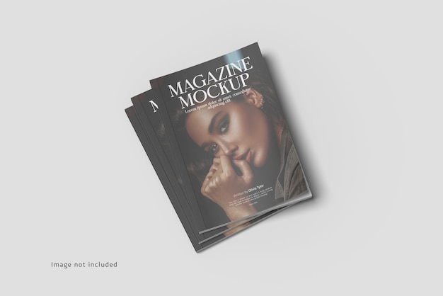 Magazine cover mockup rendering isolated