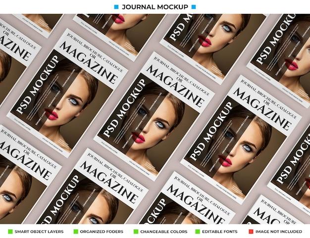 Magazine, journal or catalogue mockup design