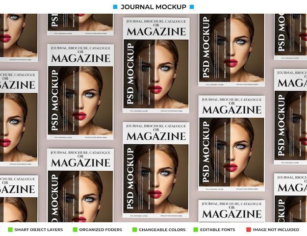 잡지, 저널 또는 카탈로그 모형 디자인