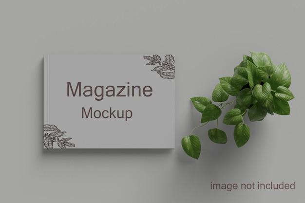 Журнал пейзаж и перспективный вид макета книги