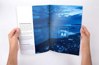 Magazine mock up design