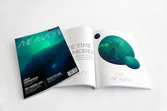 Magazine mock up design
