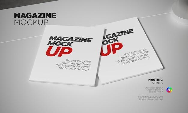 Magazine mockup in 3d rendering