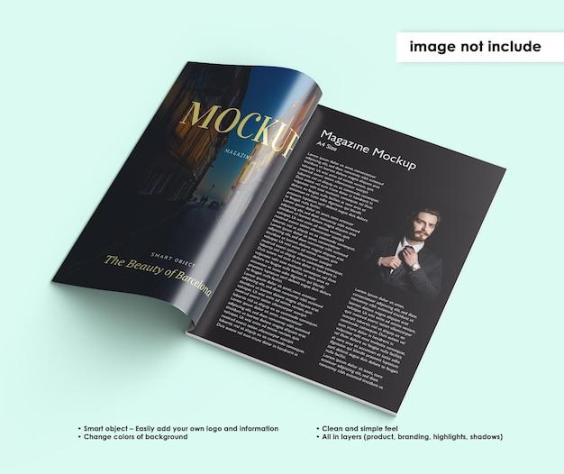 Magazine mockup design isolated