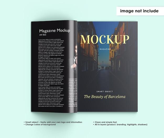 分離された雑誌のモックアップデザイン