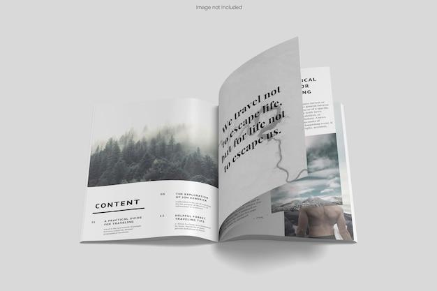 分離された雑誌のモックアップデザインレンダリング